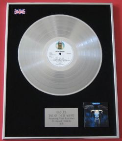 EAGLES - One Of These Nights PLATINUM LP PRESENTATION Disc